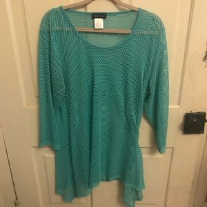 Slinky Knit Mint Top